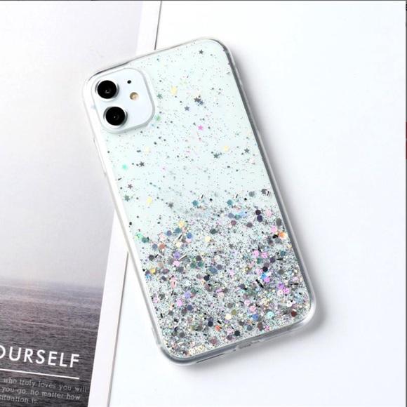 💕Gradient Silver Star iPhone Case💕